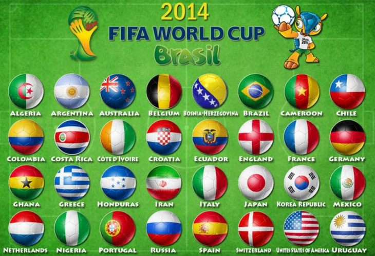 World Cup 2014 scores and results via apps
