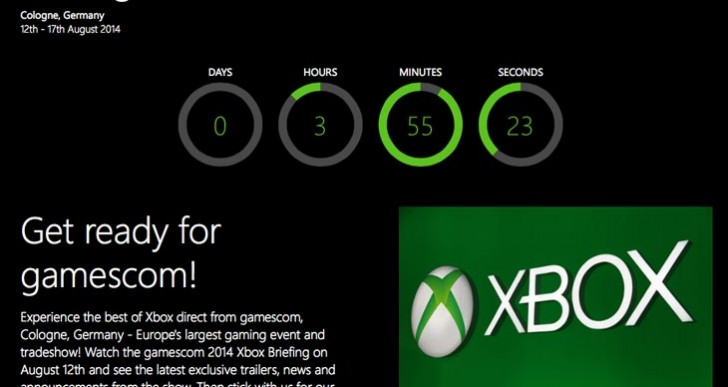 Microsoft's Xbox Gamescom conference time by city