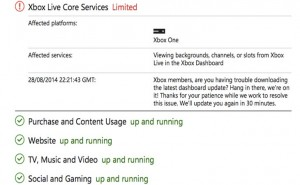 Xbox One dashboard update problems