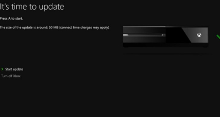 Xbox One update live today, time unknown