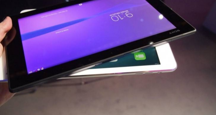 Xperia Z2 tablet vs. iPad Air visual review