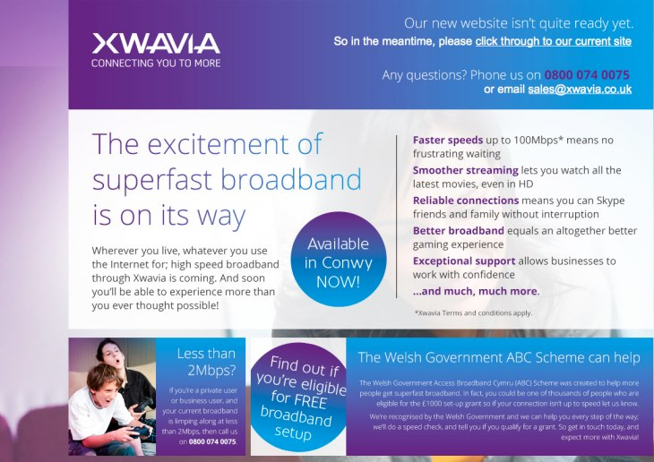 Xwavia broadband speed to increase