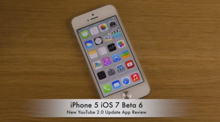 YouTube app update on iPhone 5 with iOS 7