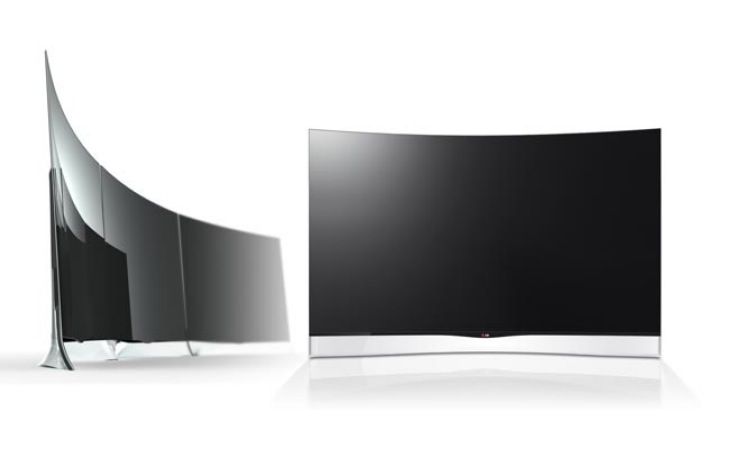 new lg curved oled tv is a first product reviews net. Black Bedroom Furniture Sets. Home Design Ideas
