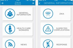 Zika virus news and map update within WHO app