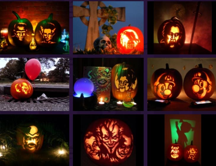 Zombie-pumpkin-carving-patterns