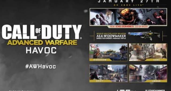 Advanced Warfare Havoc DLC release time for PST, EST, GMT