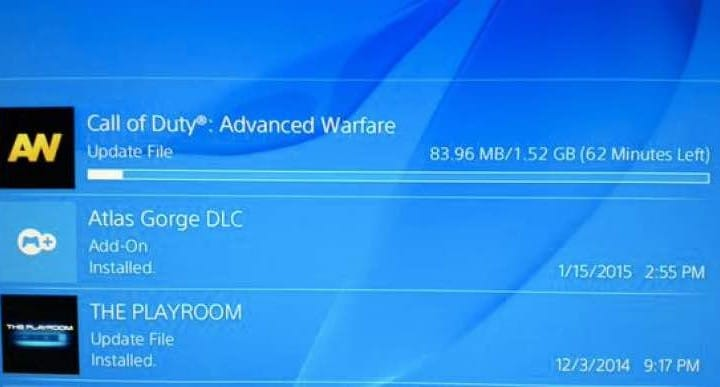 Advanced Warfare PS4 1.10 update live with massive notes