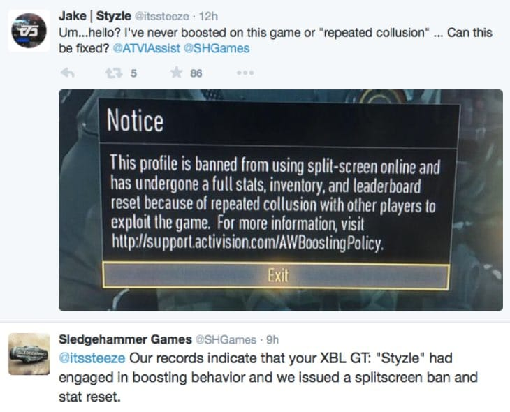 advanced-warfare-split-screen-boosting-ban