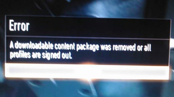 Advanced Warfare Zombies downloadable content package error