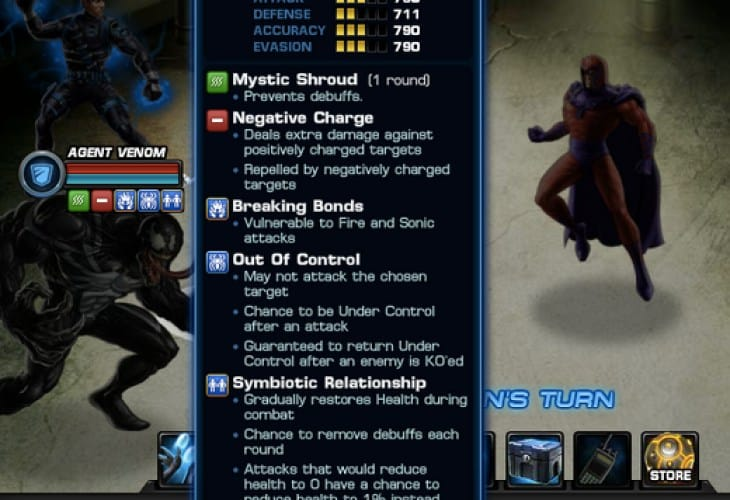 Avengers Alliance PVP 13 rewards, Agent Venom preview