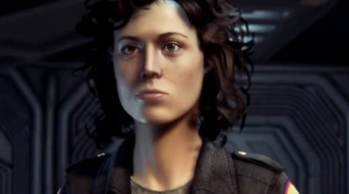 Alien Isolation Ripley graphics vs 1979 movie