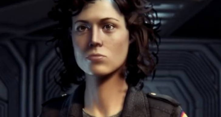 Alien Isolation Ripley graphics vs 1979 movie