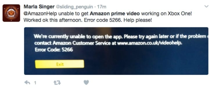 Amazon Prime Instant Video error code 1066, 5266 problems