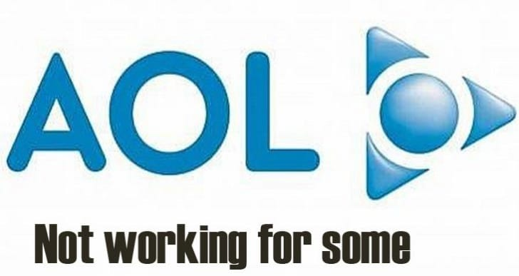 AOL Mail down on February 8 with service error