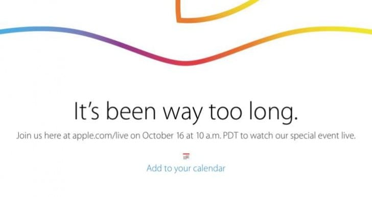 Apple iPad Air 2 Event start time worldwide