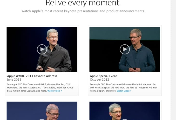 Apple's iPhone 5S keynote live video stream