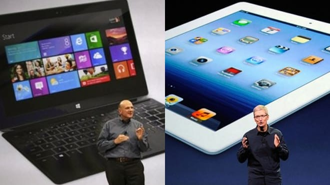 Apple iPad Air vs. Microsoft Surface 2 and Lumia 2520