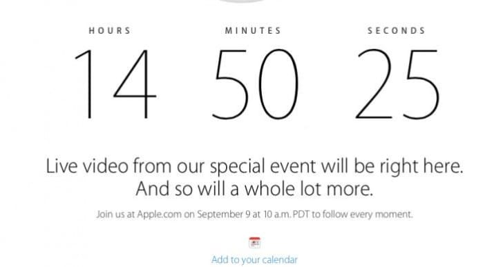 Apple iPhone 6 event time worldwide