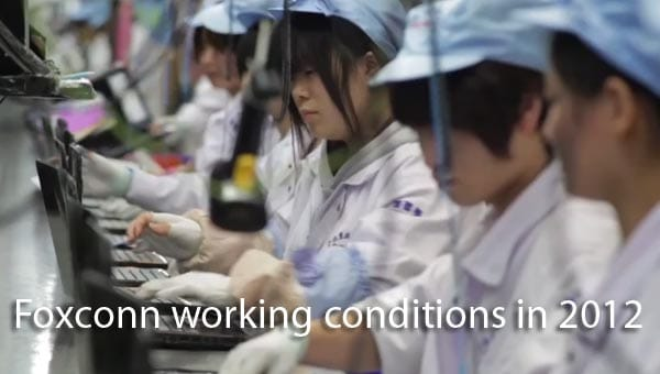 Foxconn working conditions in 2012 video report