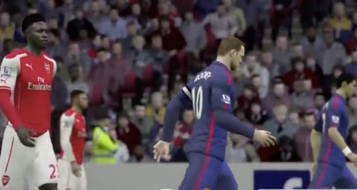 Arsenal v Manchester United without Falcao in FIFA 15