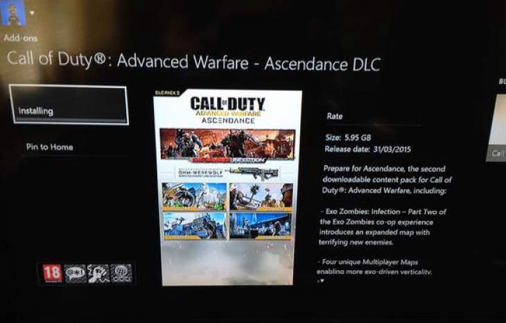 Ascendance DLC live for Infection Zombies at 5.95GB
