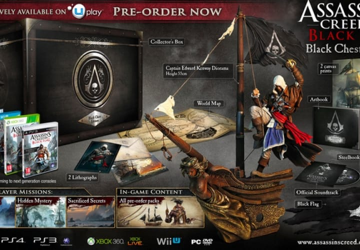 Assassin's Creed 4 gameplay with Black Chest joy