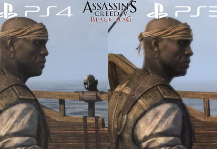 assassin�s creed 4 ps4 vs ps3 graphics may shock you