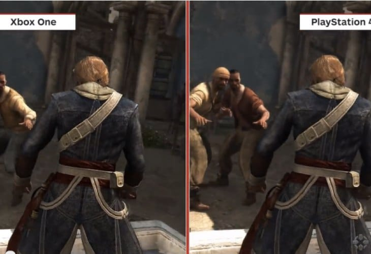 Assassin's Creed 4 PS4 Vs Xbox One graphics after release