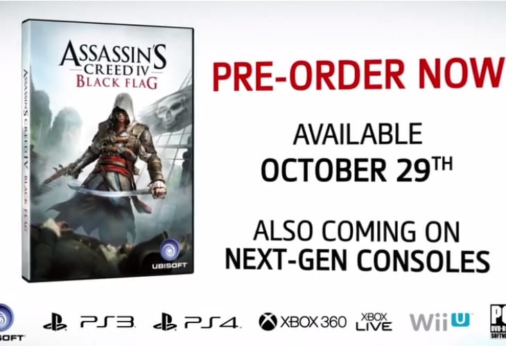 Assassin's Creed 4 trailer with next-gen graphics
