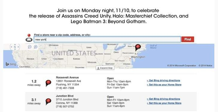 Assassin's Creed Unity midnight release at GameStop