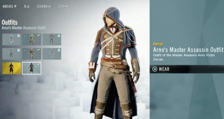 Assassin's Creed Unity Initiate rank fix for Arno costumes