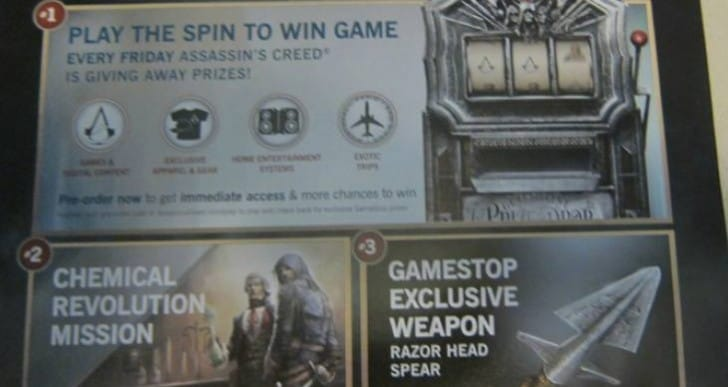 Assassin's Creed Unity pre-order for spin bonuses