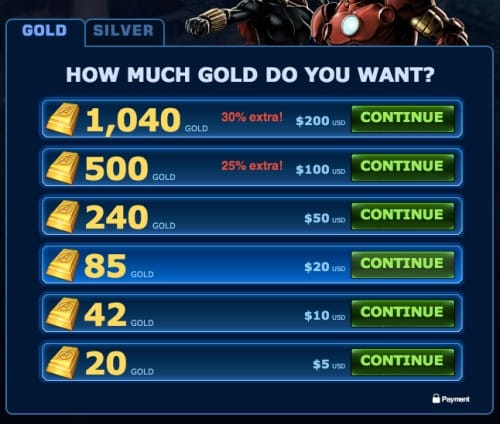 $20 can get you 85 gold in a 1:1 conversion instead.
