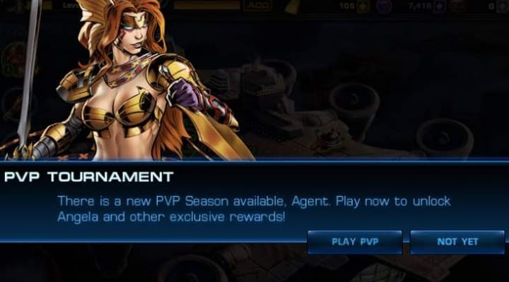 Avengers Alliance PVP 19 live with Angela