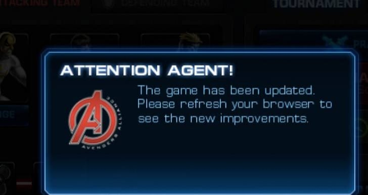 Marvel Avengers Alliance PVP 16 crashes again