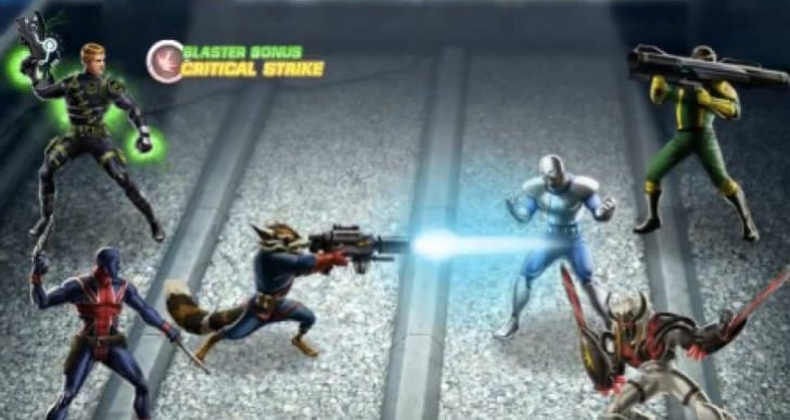 Avengers Alliance Rocket Raccoon gameplay