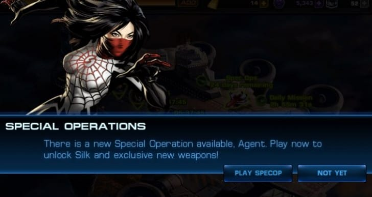 Avengers Alliance Spec Op 29 task list and heroes required