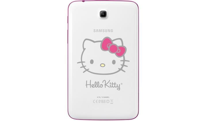 back of samgsung hello kitty tablet