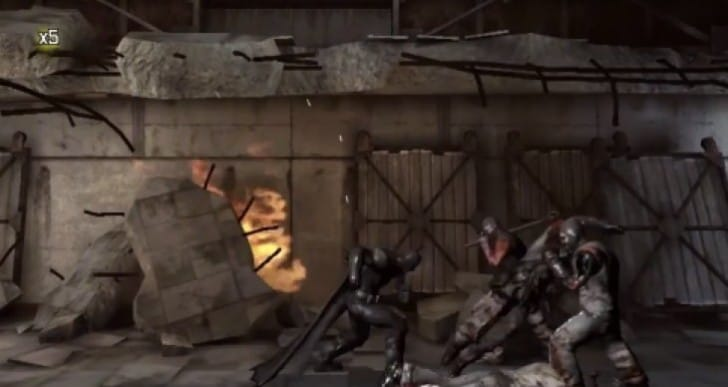 Batman Arkham Origins Blackgate with graphics criticism