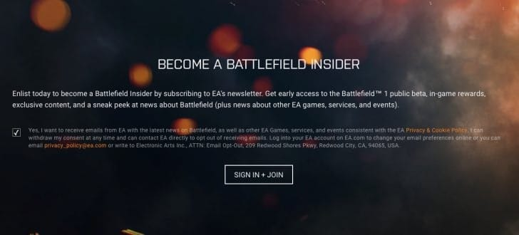 Get Battlefield 1 beta access for PS4, Xbox One, PC