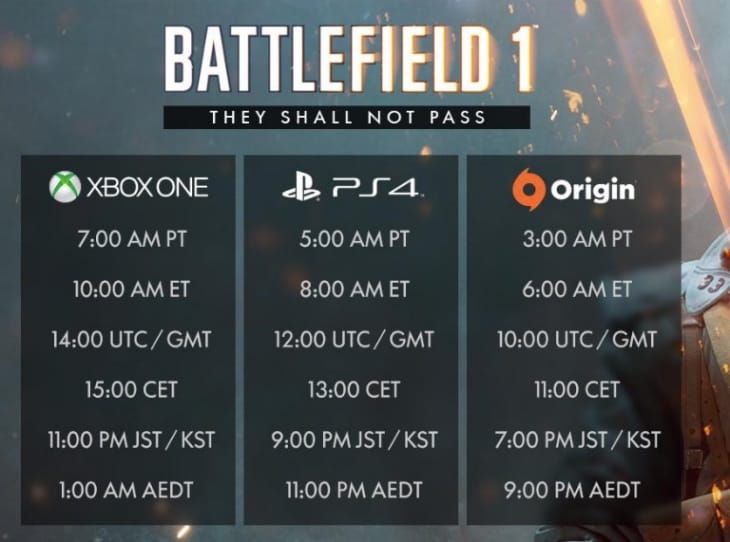 battlefield-1-they-shall-not-pass-release-times