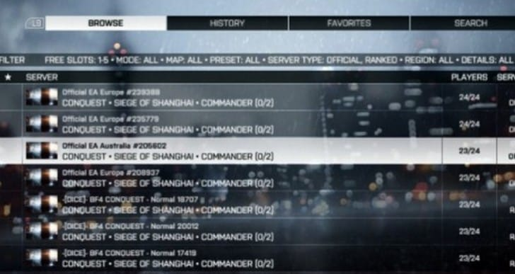 Battlefield 4 custom servers on PS4, Xbox One update
