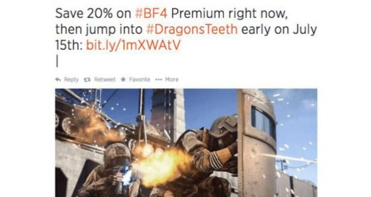 BF4 Dragon's Teeth release date is July 15