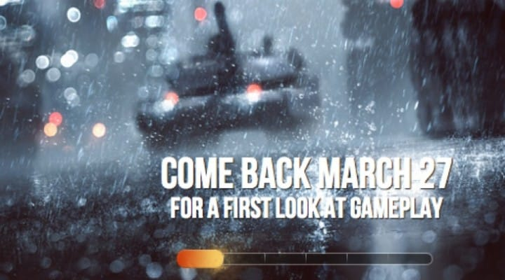 Battlefield 4 gameplay within days, website live
