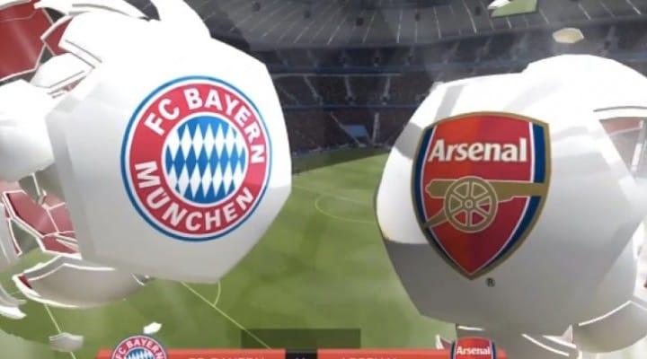 Bayern Munich Vs Arsenal prediction from FIFA 14
