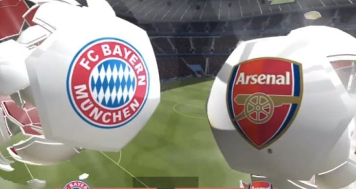 Bayern Munich Vs Arsenal prediction from FIFA 14