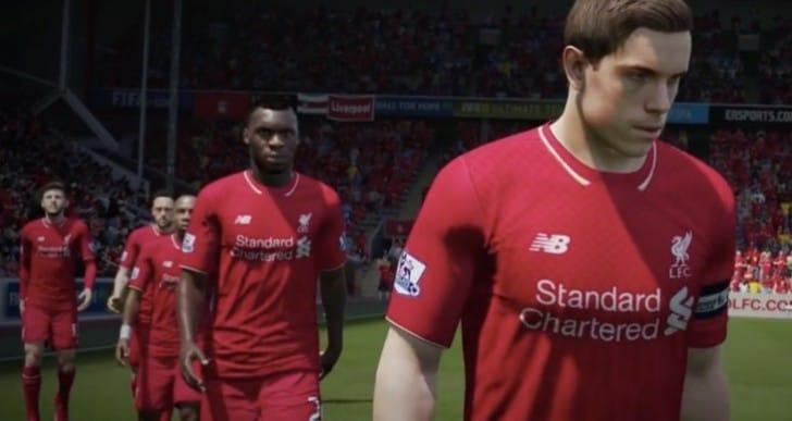 Benteke in No.9 LFC shirt on new FIFA 16 trailer