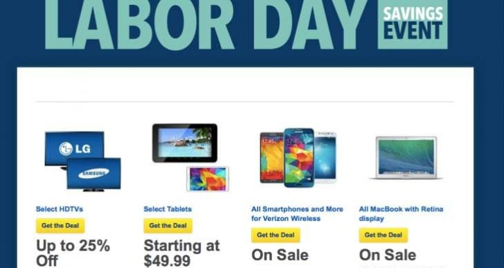 Best Buy's Labor Day 2014 sales event now live