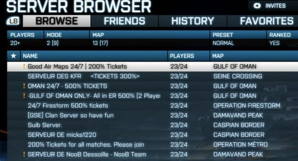 how to join battlefield 3 servers